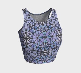 Purple and Blue Kaleidoscope Athletic Crop Top preview