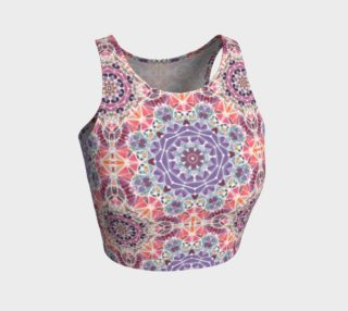 Purple and Pink Kaleidoscope Athletic Crop Top preview