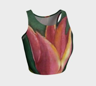 BEAUTIFUL RED ORANGE TULIP in WATERCOLOR preview