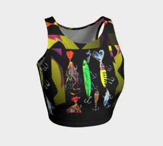 The New a-Lure-ing You 3-d Optical-Print Crop Top preview