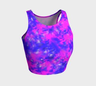 Blue and purple splatter crop top preview