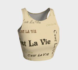 Coffee C'est La Vie Crop Top preview