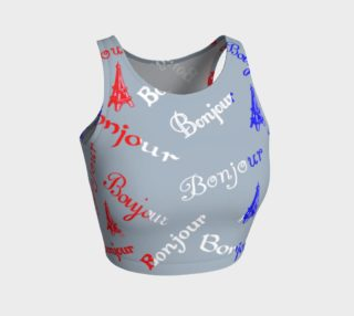 French Flag Bonjour Crop Top preview