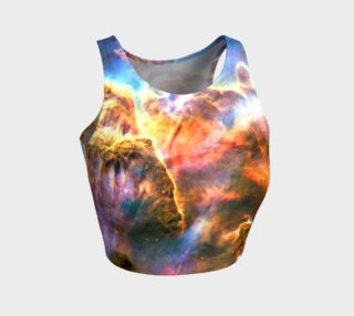 Mystic Nebula Athletic Crop Top preview
