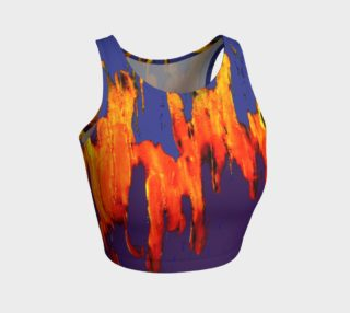 Aperçu de Lava in Purple and Orange Crop Top