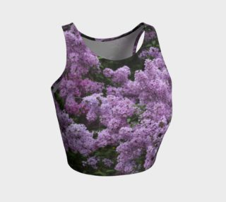 Athletic Crop Top with Lilacs preview