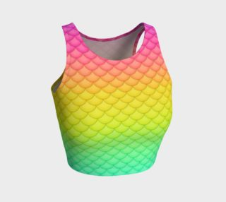 Neon Rainbow Mermaid Crop preview