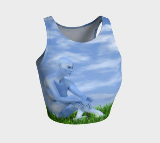 I dreamed I became the sky Crop Top preview