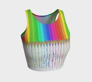 Melting Rainbow Pencils Crop Top preview