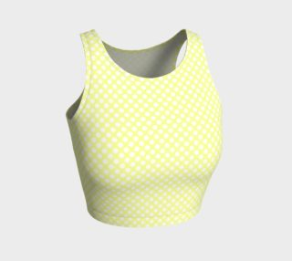 Polka Dots Pattern-Yellow Athletic Crop Top preview