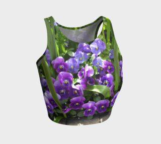 Purple Flowers Crop Top preview