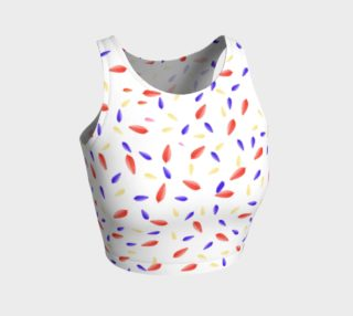 Multi-Colored Leaves Crop Top preview