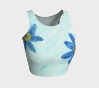 Aperçu de Simply Blue Flowers Crop Top