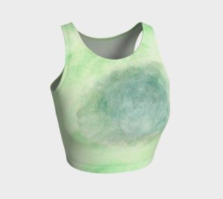 Green Dimension Flower Crop Top preview