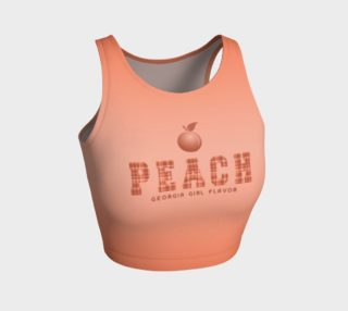 "Aperçu de PEACH  ""Georgia Girl Flavor"" Crop Top"