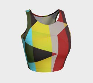 Triangular Geometric Pattern Athletic Crop Tank Top  preview