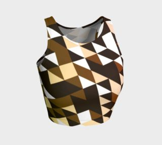 Chocolate Chip Geometric Pattern Athletic Crop Tank Top  preview