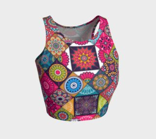 Ethnic Floral Paisley Crop Top preview