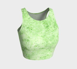 Greenery and white swirls doodles Athletic Crop Top preview