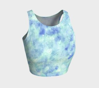 Blue lagoon Athletic Crop Top preview
