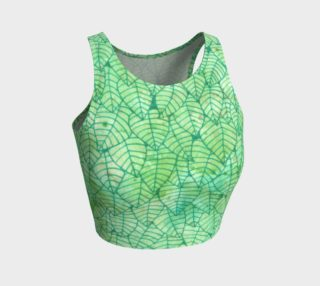 Green foliage Athletic Crop Top preview