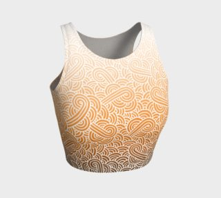 Ombre orange and white swirls doodles Athletic Crop Top preview