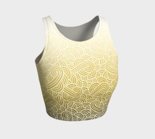Ombre yellow and white swirls doodles Athletic Crop Top preview