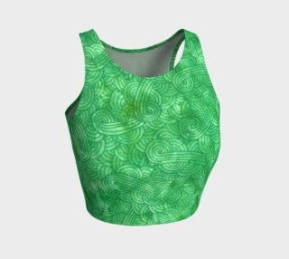 Green swirls doodles Athletic Crop Top preview