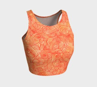 Orange and red swirls doodles Athletic Crop Top preview