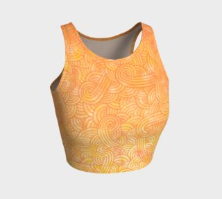 Yellow and orange swirls doodles Athletic Crop Top preview