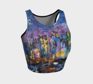 I love NY, New York City athletic crop top preview