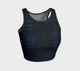 platno (black and blue) athletic crop top preview