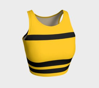 Aperçu de Yinz Black and Yellow Athletic Crop Top