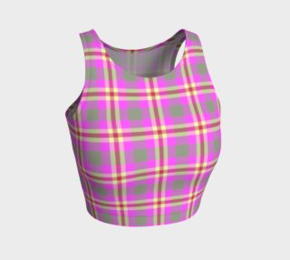 Pink Plaid Athletic Crop Top aperçu