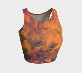 Sunset Flowers Crop Top preview