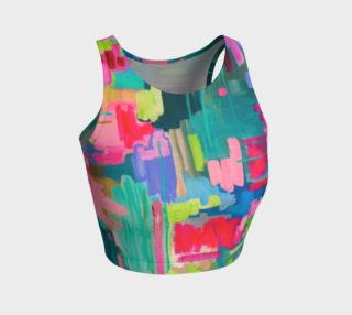 Aperçu de Happy Happy Joy Joy- Athletic Crop Top