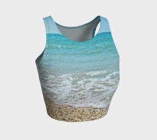 I Love The Beach Athletic Crop Top preview