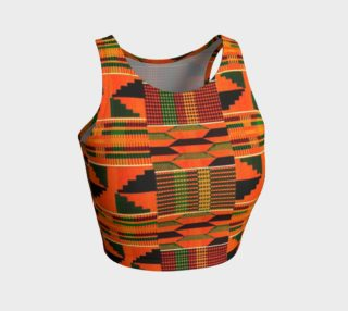orange kente crop top preview