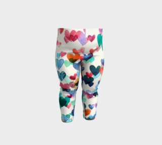 Heart Connections - a Watercolor Pattern - baby leggings preview