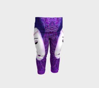 Purple Festival Sad Clown Mask Baby Leggings preview