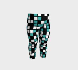 Verdigris, Black, and White Random Mosaic Squares preview