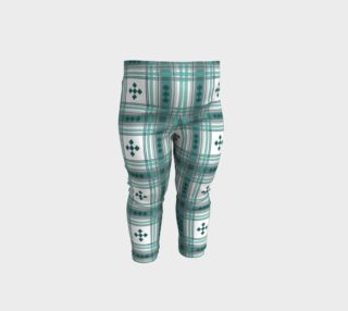 Preppy Plaid in Teal, Gray and White preview
