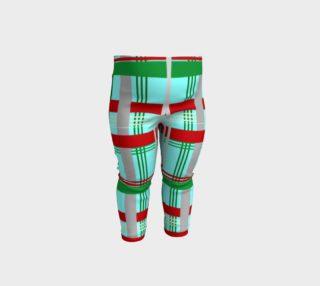 Aperçu de Green & Red Plaid Baby Leggings