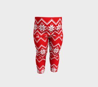 Aperçu de Reindeer Snowflake Baby Leggings