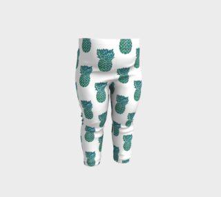 Teal Pineapple summery baby leggings preview
