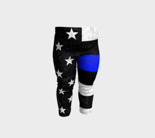 Thin Blue Line Toddler Leggings aperçu