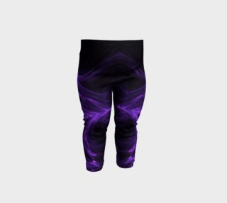 Purple Fractal on Black Baby Leggings preview