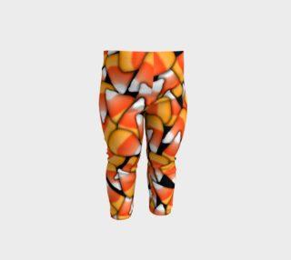 Fall Candy Corn Baby Leggings aperçu