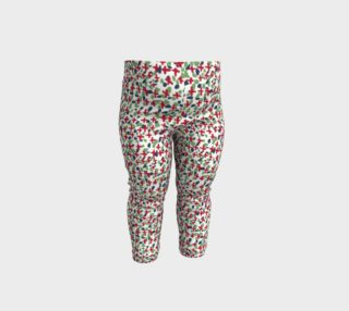 Messy Floral Toddler Leggings preview