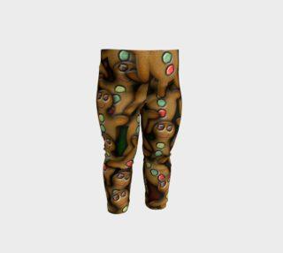 Ginger Bread Man Cookies Baby Leggings preview